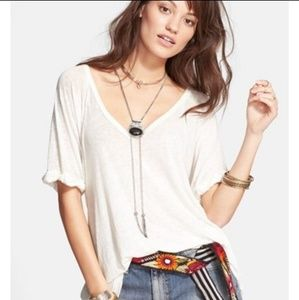 Free People We the Free Falling Tee Size Large NWT
